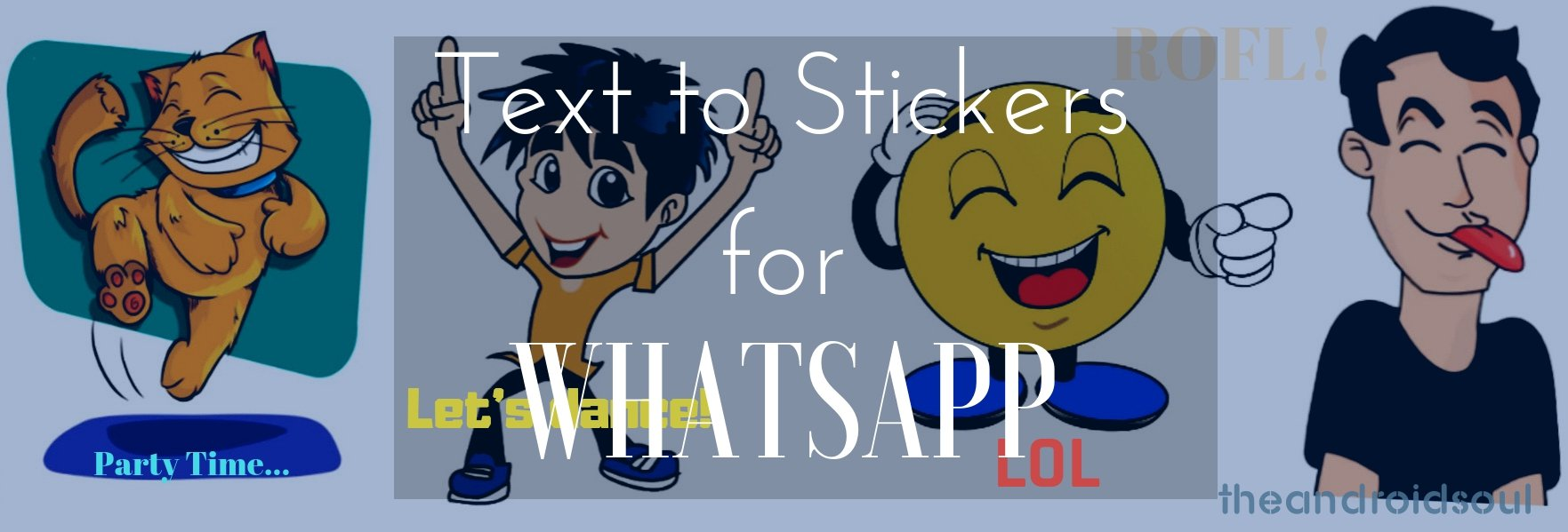 WhatsApp text stickers