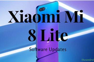 Xiaomi Mi 8 Lite software update