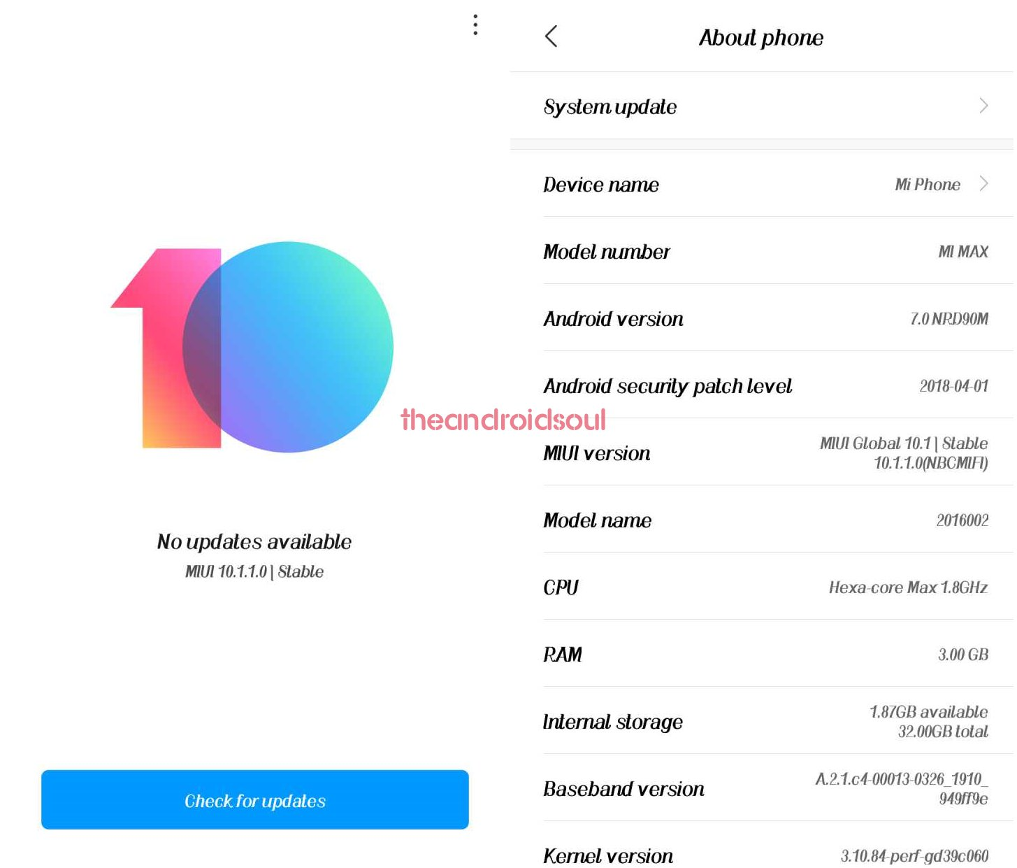 Xiaomi Mi Max Pie update news and more: MIUI 10 stable and