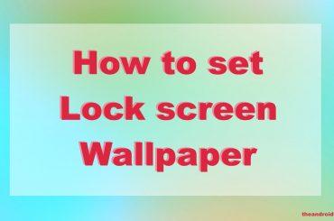 lock screen wallpaper