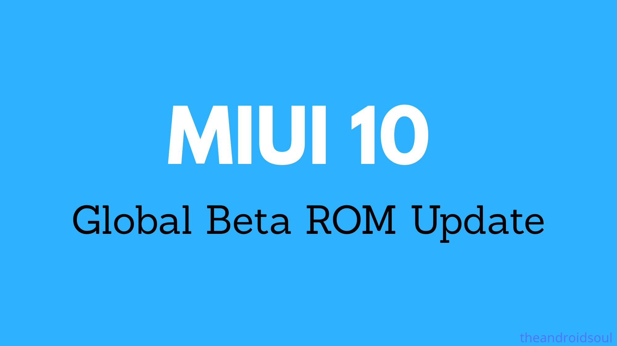 miui 10 global beta