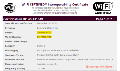 Samsung Galaxy M10 to release soon now, hits Wi-Fi Alliance