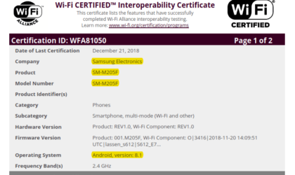 Samsung Galaxy M20: Release draws closer as device clears Wi-Fi Alliance