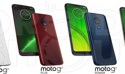 Here is how Moto G7, Moto G7 Plus, Moto G7 Power and Moto G7 Play look like