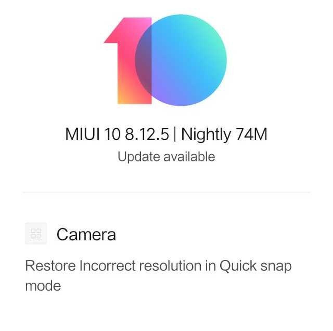 Redmi Note 5 Pro update