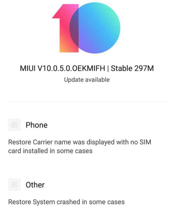 Redmi Note 6 Pro MIUI 10.0.5