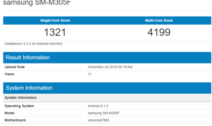 Samsung Galaxy M30 to feature Exynos 7885, 4GB RAM and Android 8.0 Oreo: Geekbench