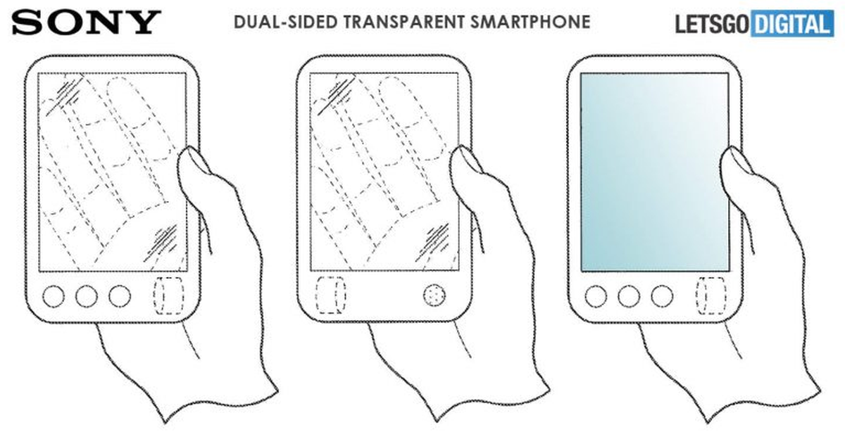Sony dual-sided transparent phone