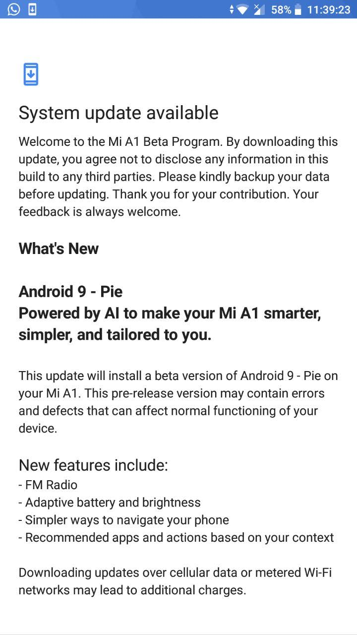 Xiaomi-Mi-A1-Android-9-Pie-beta-update