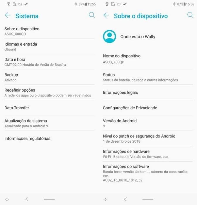ZenFone 5 Pie update leak