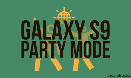How to use party mode in Galaxy S9?