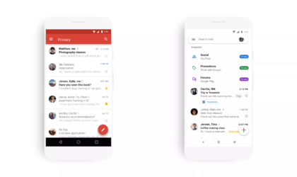 Gmail's swanky new look now introduced in its app