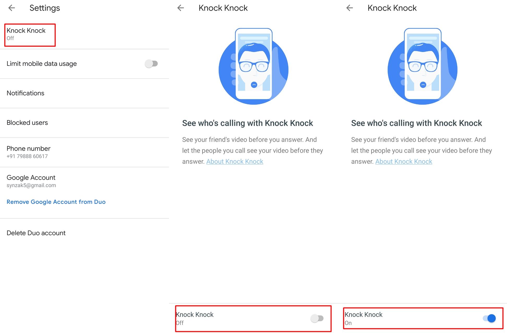 Knock-Knock-Enable