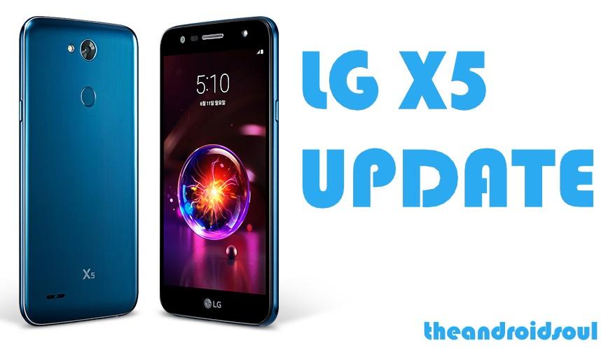 LG X5 update