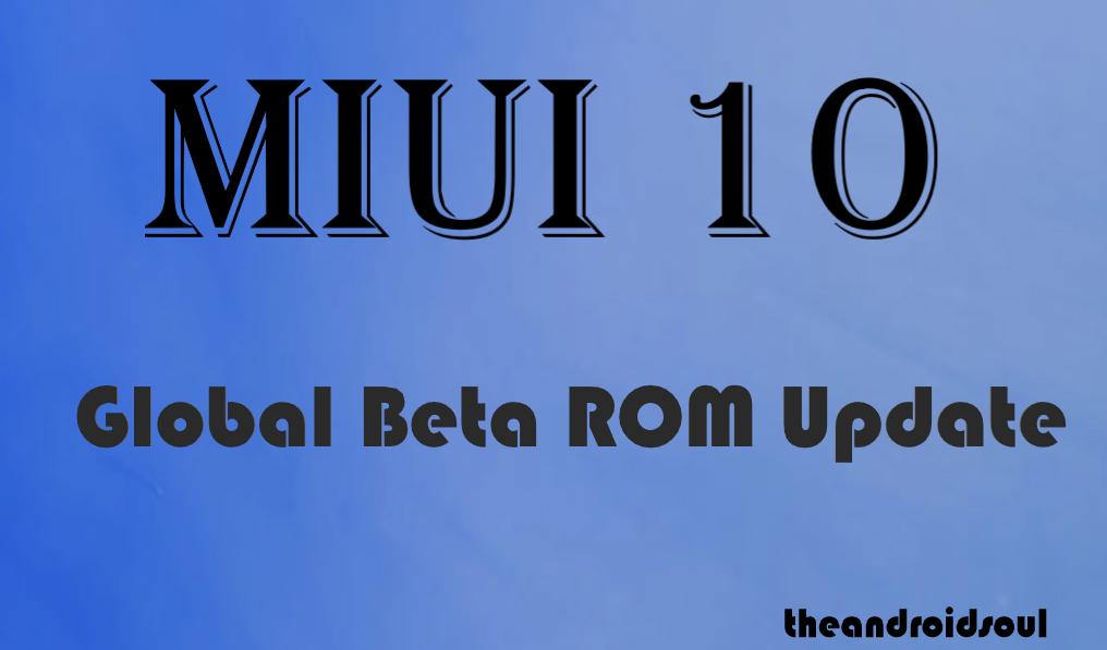 MIUI 10 update