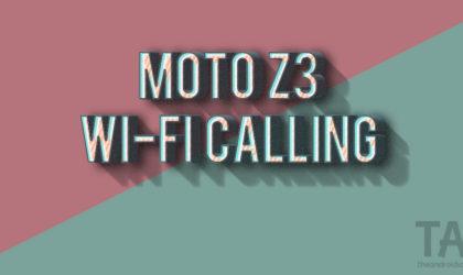 Verizon Moto Z3 receives update enabling Wi-Fi calling