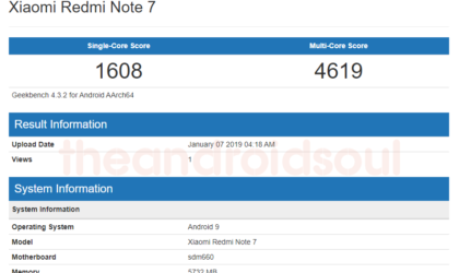 Xiaomi Redmi Note 7 spotted on Geekbench