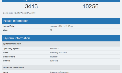 Samsung Galaxy S10 Plus shows up on Geekbench