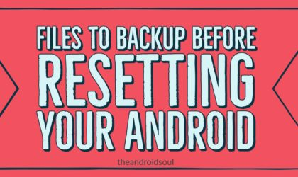 What should I backup before factory resetting my android?