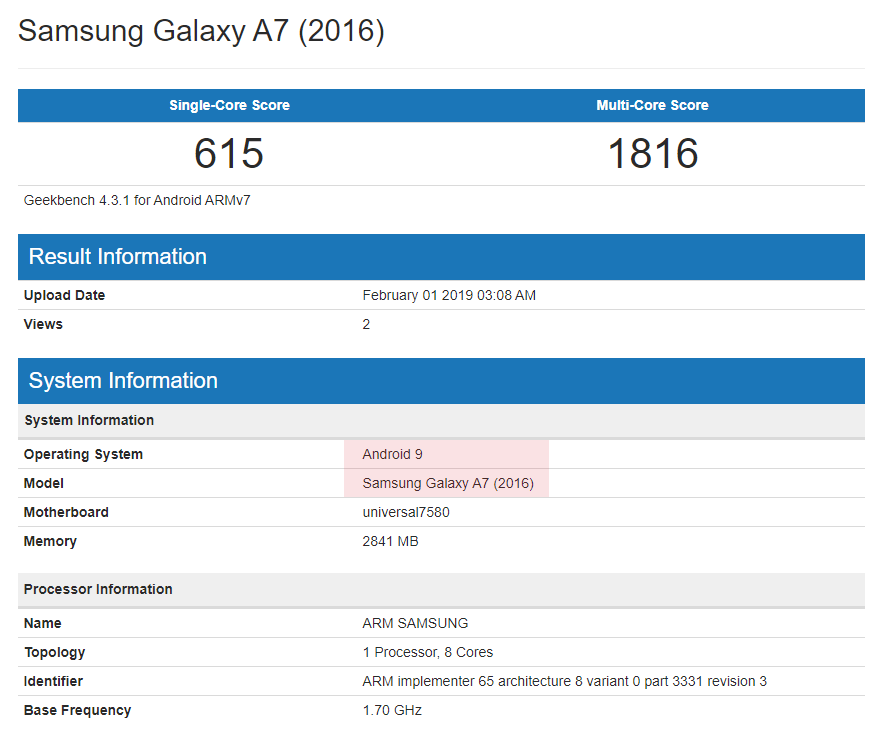 Android 9 Pie for Galaxy A3 2016 and Galaxy A7 2016 leaks out!