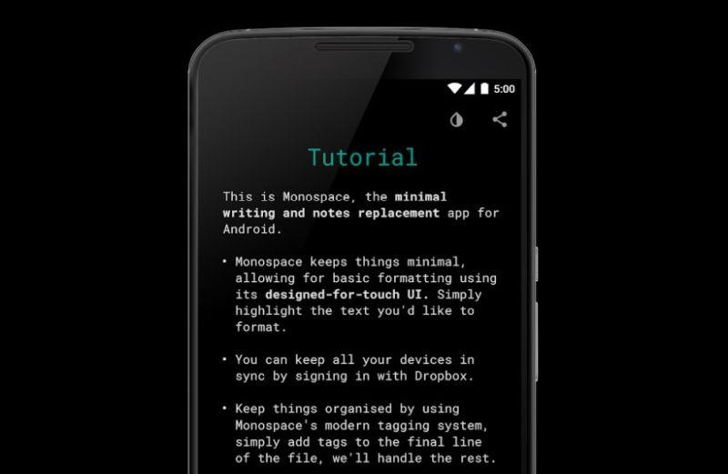 Monospace app