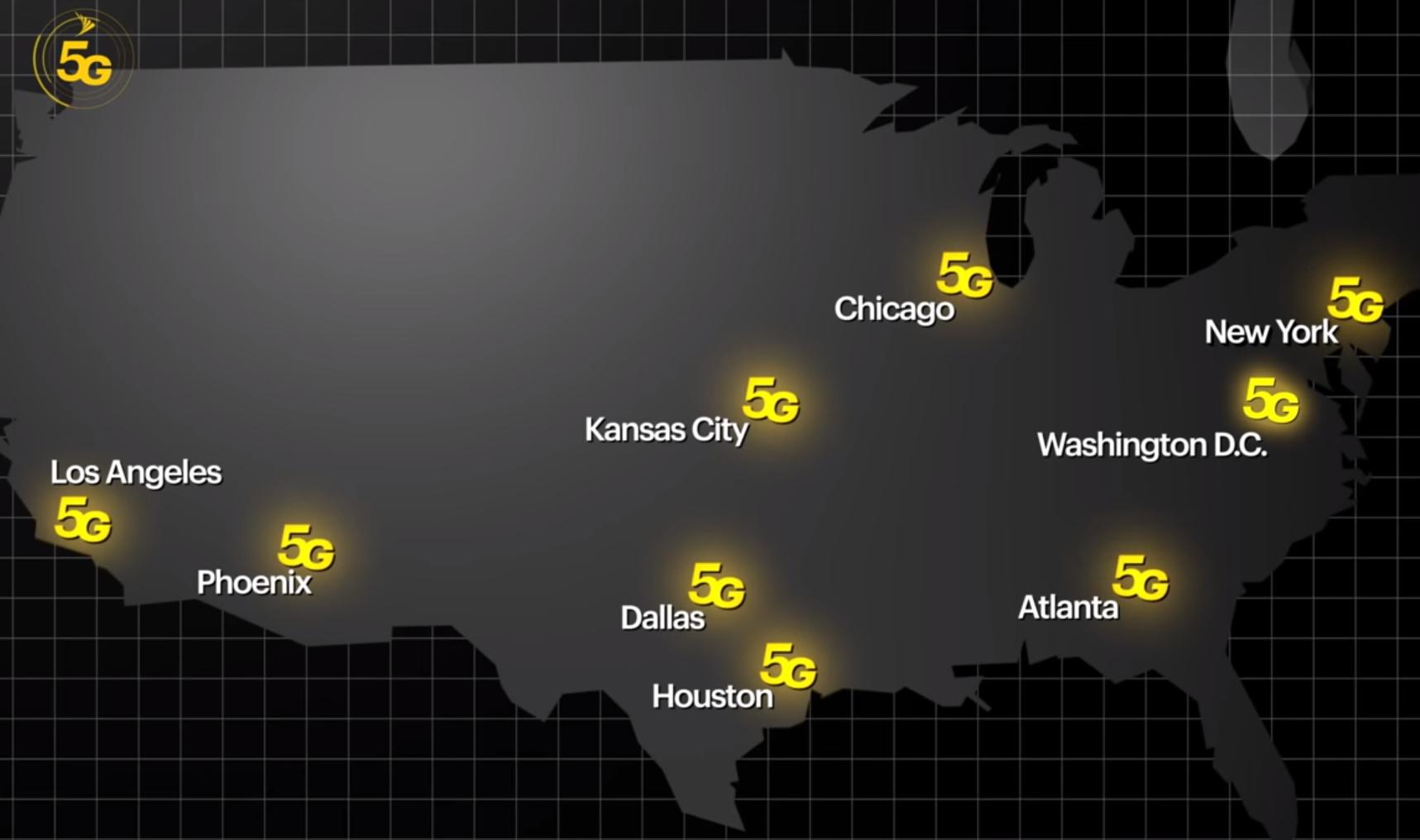 Sprint 5G cities
