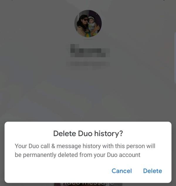 Delete Contact Call History Google Duo