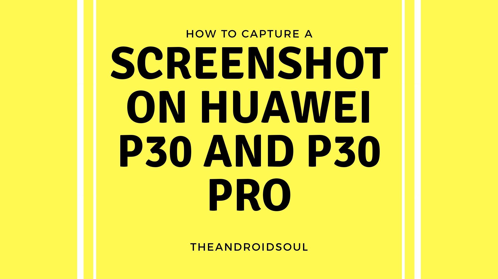 Screenshot Huawei P30 Pro