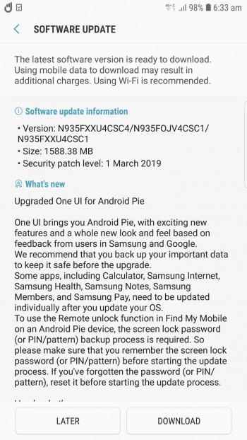 Samsung-Galaxy-Note-FE-Pie-update