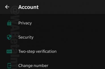 WhatsApp dark mode settings