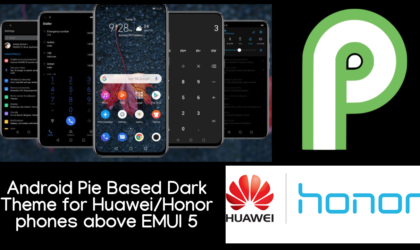 Dark Android Pie based theme for Huawei & Honor devices above EMUI 5