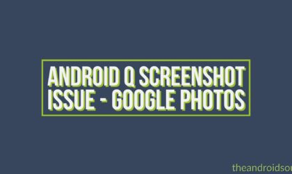How to solve screenshot problem on Android Q Beta 2