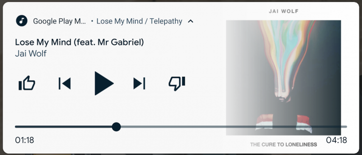 Android Q Beta 2 music seekbar