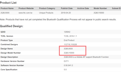 HTC's 5G phone (U13?) clears Bluetooth SIG