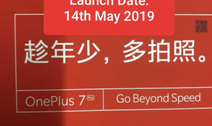 OnePlus 7 and its Pro variant set for release on May 14