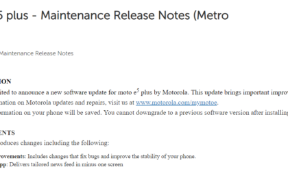Moto E5 Plus and E5 Play on MetroPCS have new updates