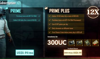 PUBG Prime and PUBG Prime Plus subscriptions announced, cost $0.99 and $9.99 respectively