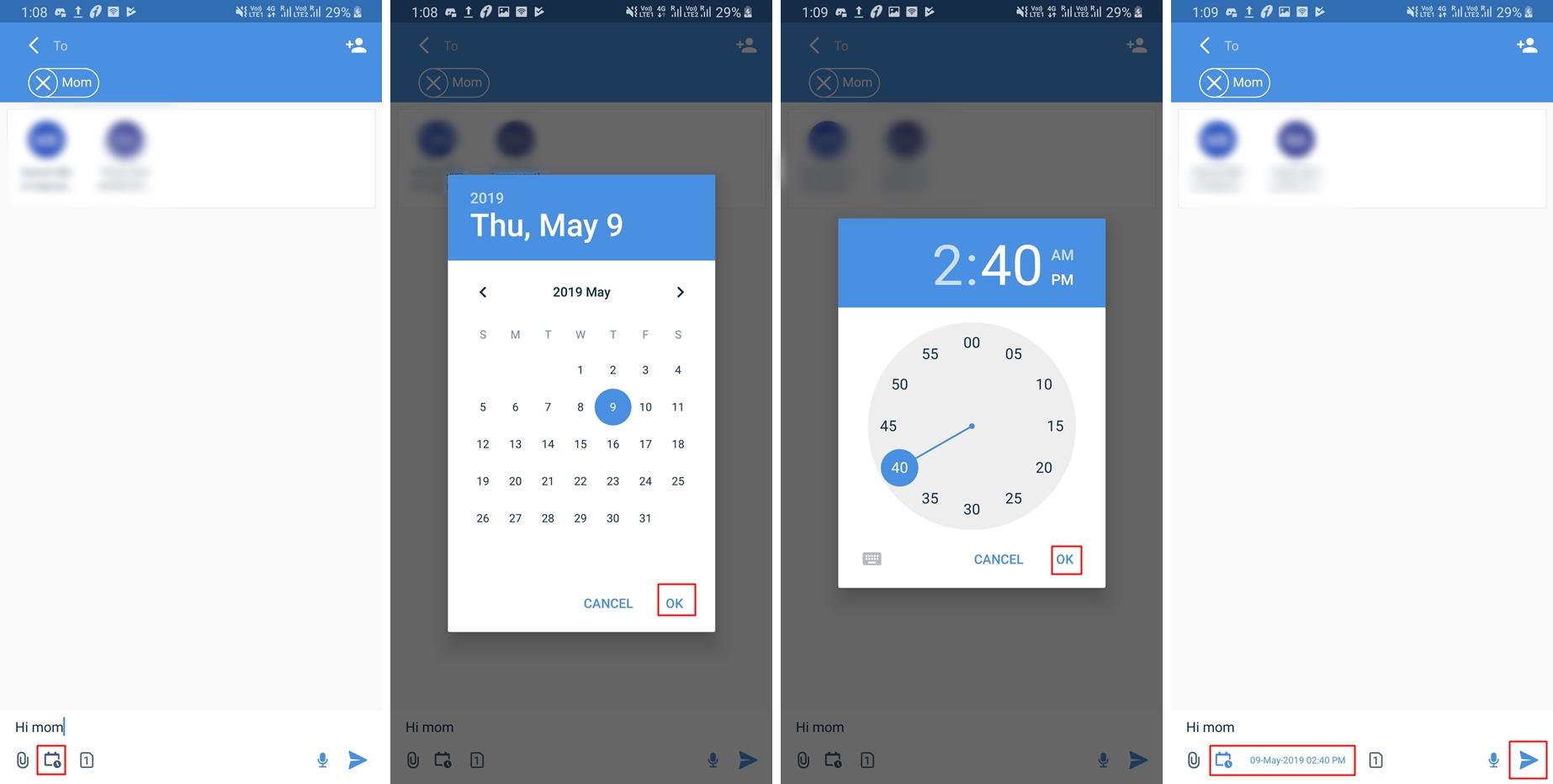 SMS-scheduling-SMS-Organizer