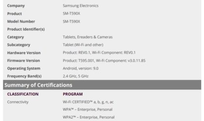 Android 9 Pie for Samsung Galaxy Tab A 10.5 to release soon