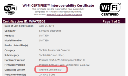 Here's why Android 9 Pie for Samsung Galaxy Tab Active 2 is closer to release