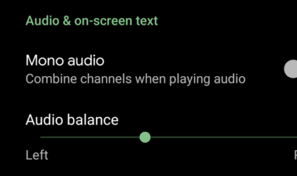 Android Q brings support for Audio Balance
