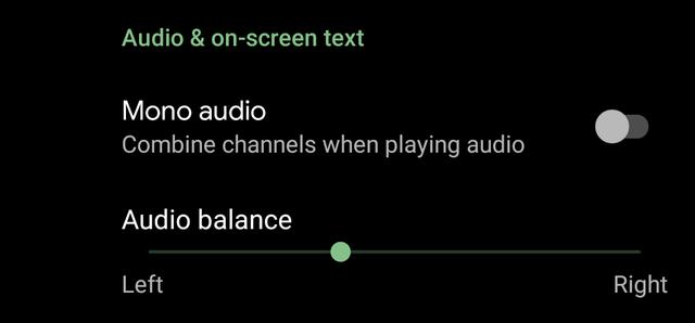 audio balance Android Q