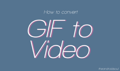 How to convert a GIF file into a video file
