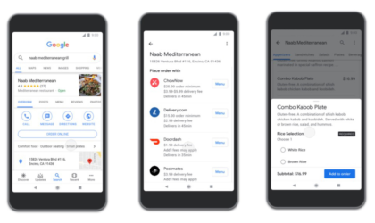 Google streches its assistance to food delivery services