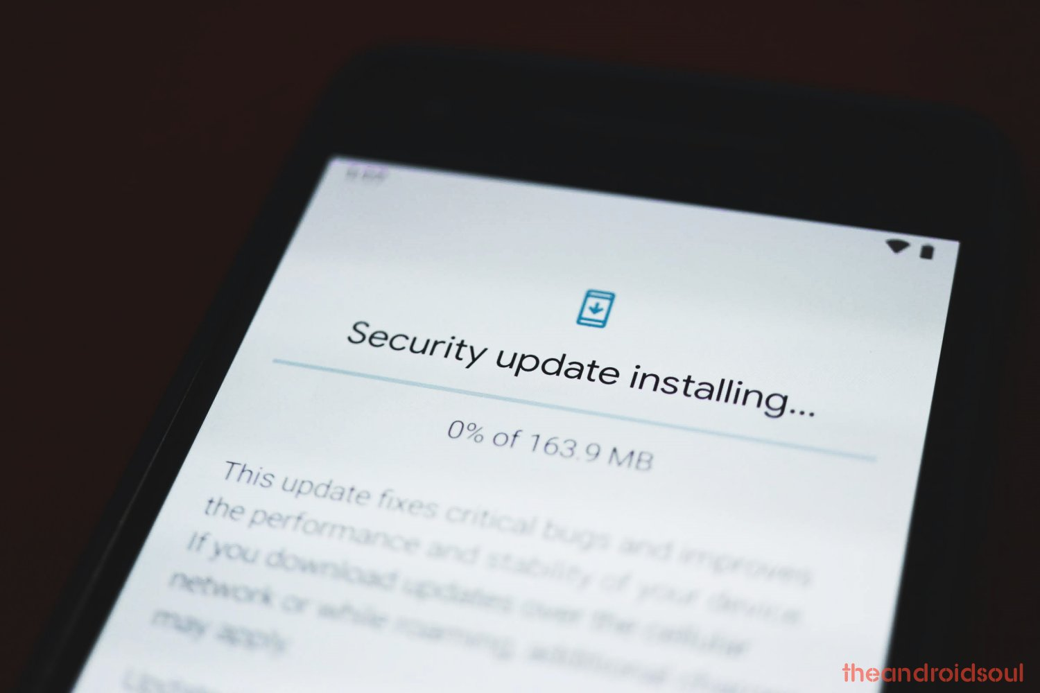Installing system update on Pixel 3a