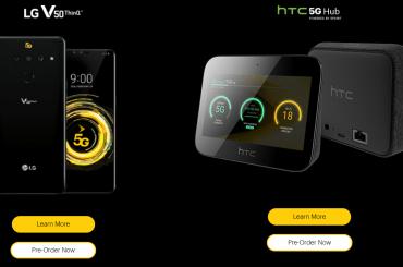 LG V50 ThinQ and HTC 5G Hub