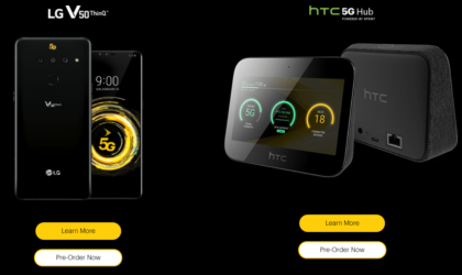 Sprint opens pre-orders for 5G-ready LG V50 ThinQ and HTC Hub
