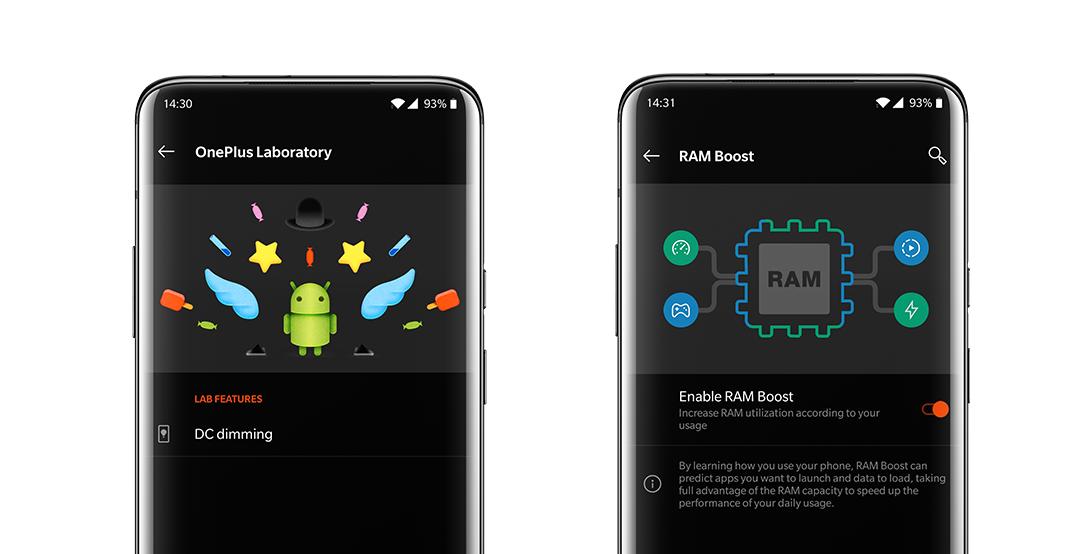 OnePlus 7 Pro RAM Boost