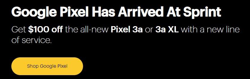 Sprint-Pixel-3a-deals