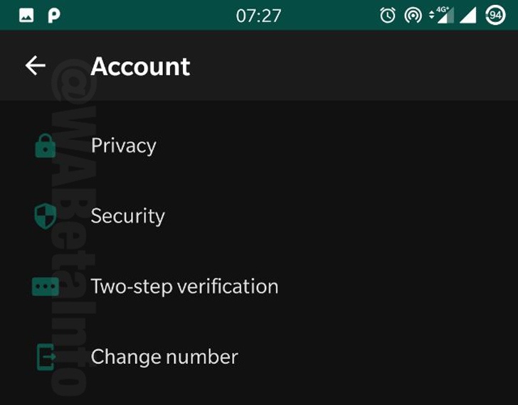 WhatsApp dark mode update
